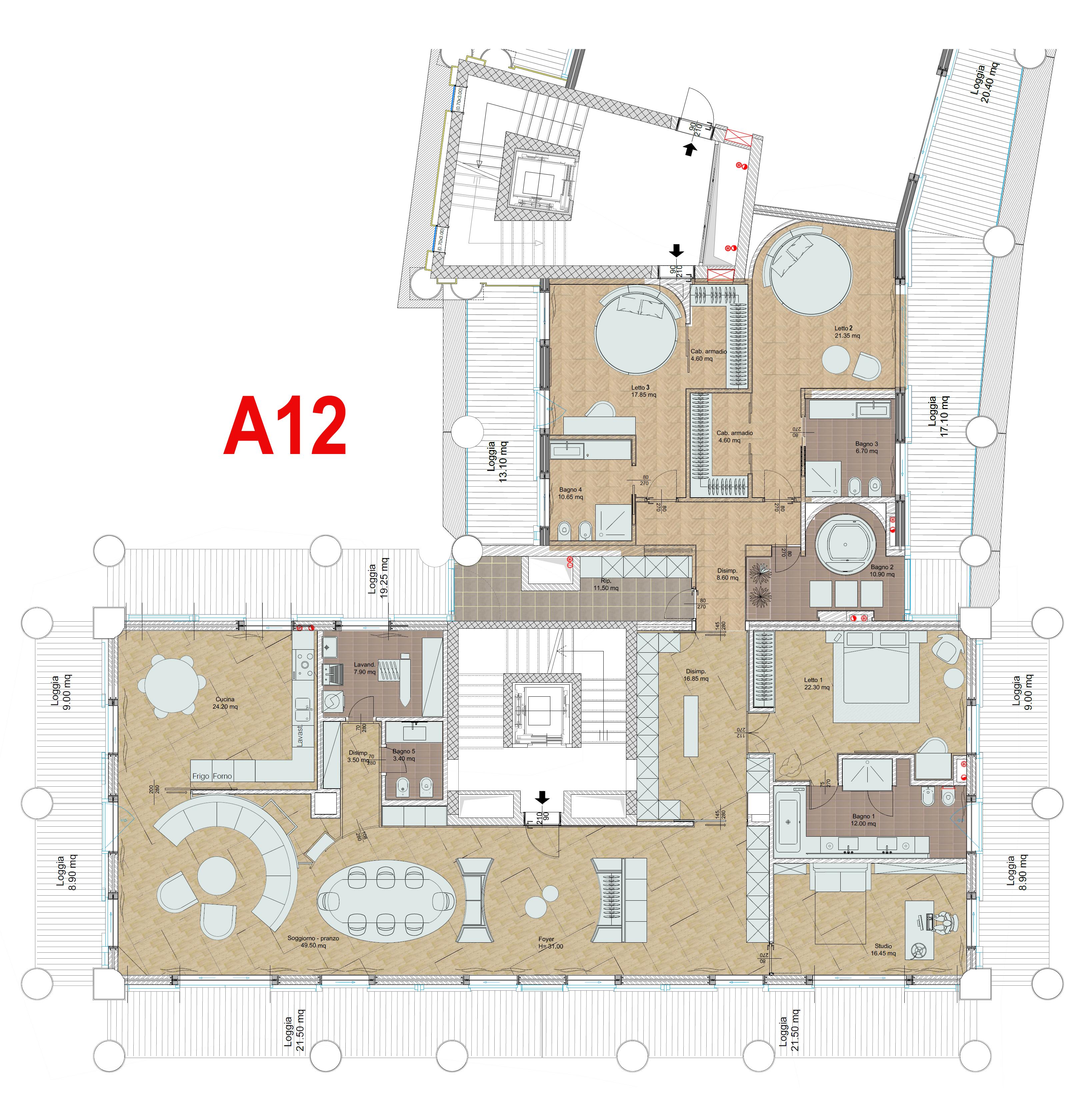 Camera Matrimoniale 12 Mq.Area Residenziale Piano Primo Crescent Salerno