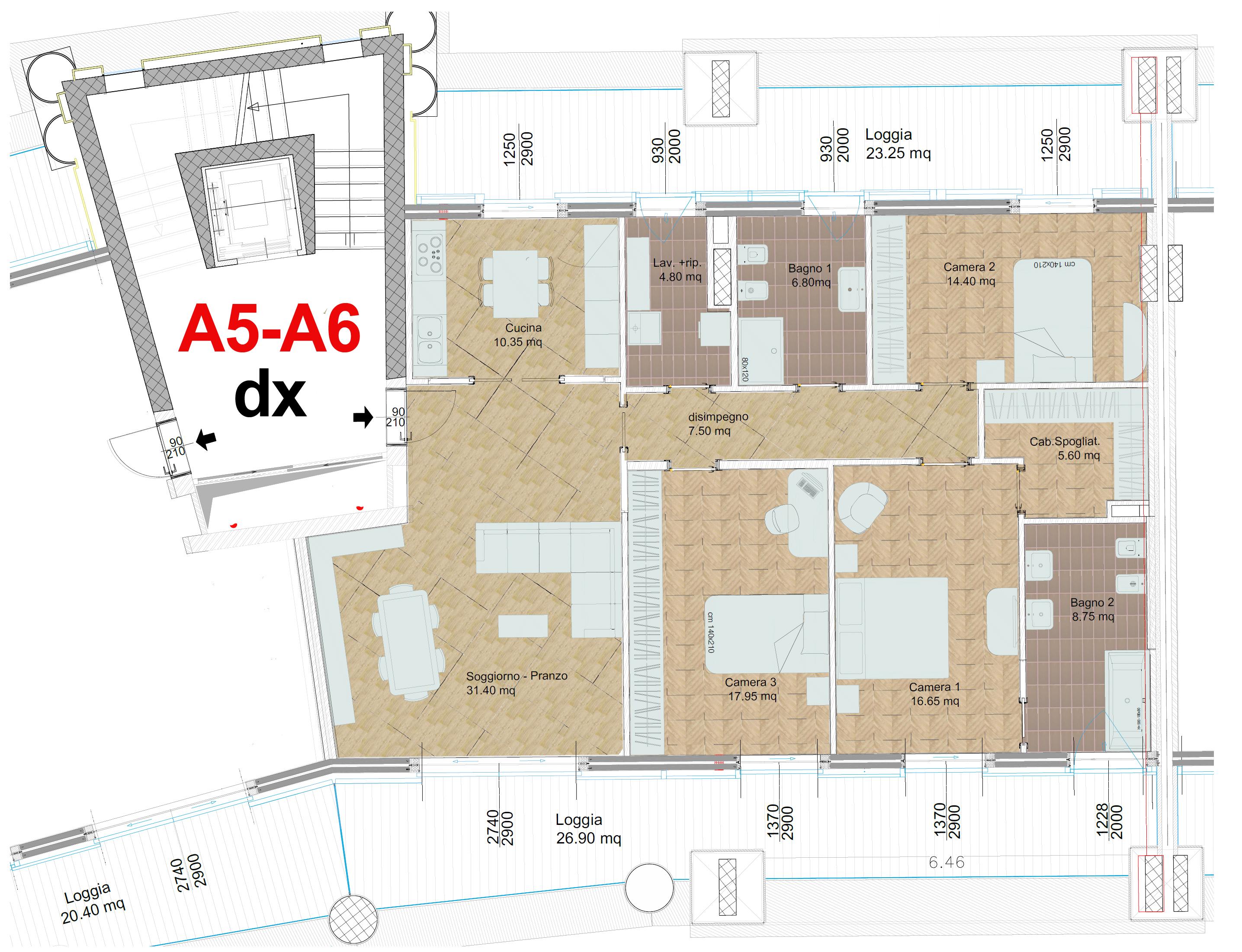 Area residenziale piano terzo – Crescent Salerno